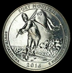 2016 S 25C ATB QUARTER FT MOULTRIE BU CLAD 20UO0327 3 50 CENTS SHIPPING