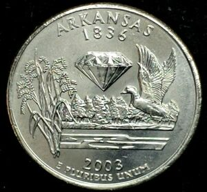 2003 D 25C STATE QUARTER ARKANSAS BU CLAD 20OW0228 1 50 CENTS SHIPPING