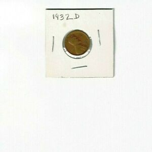1932 D 1C   LINCOLN CENT WHEAT PENNY