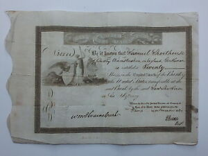 STOCK CERTIFICATE 1830 BANK OF THE UNITED STATES OF AMERICA   SIGNED BY BIDDLE