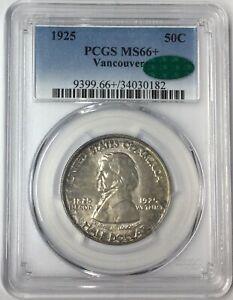 Click now to see the BUY IT NOW Price! 1925 50C VANCOUVER COMMEMORATIVE SILVER HALF DOLLAR PCGS MS66  CAC T4