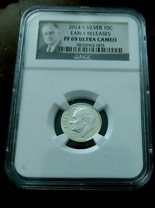 2014 S SILVER ROOSEVELT DIME NGC PF 69 ULTRA CAMEO