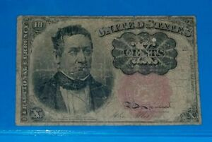 1874 1876 5TH. ISSUE TEN CENTS US FRACTIONAL CURRENCY MEREDITH   G/VG.
