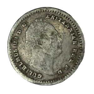 1834 GREAT BRITAIN SILVER 1.5 PENCE VF UNCERTIFIED