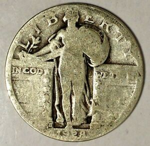 1928 S 25C STANDING LIBERTY QUARTER 90  SILVER 18SOC0918 50 CENTS SHIPPING