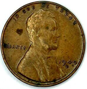 1940 D 1C LINCOLN WHEAT CENT 19LT0921 1 50 CENTS SHIPPING