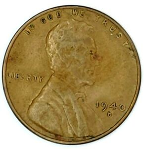 1940 D 1C LINCOLN WHEAT CENT 19LT0913 50 CENTS SHIPPING