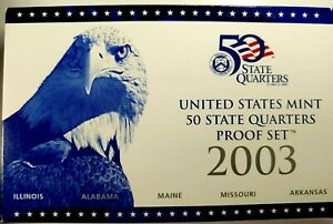 2003 S US PROOF STATE QUARTER MINT SET 5 COINS BU CLAD 19UUL0921 $2 SHIPPING