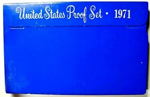 1971 S US PROOF MINT SET 5 COINS CLAD 20OCT0404 $2 SHIPPING