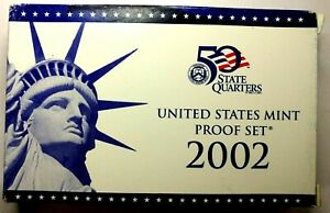 2002 S US PROOF MINT SET 10 COINS CLAD 18ACT0201 $2 SHIPPING