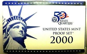 2000 S US PROOF MINT SET 10 COINS CLAD 20STC0404 $2 SHIPPING