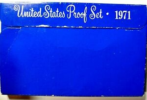 1971 S US PROOF MINT SET 5 COINS CLAD 20OWC0404 $2 SHIPPING