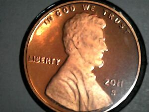 2011 S GEM PROOF DEEP CAMEO LINCOLN SHIELD CENT/PENNY