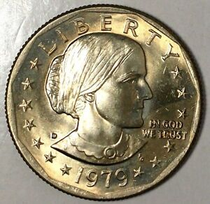 1979 D $1 SUSAN B ANTHONY DOLLAR BU 18LTT2103 8 50 CENTS SHIPPING