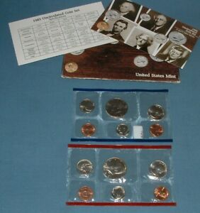 1985 U.S. MINT SET   10 COINS