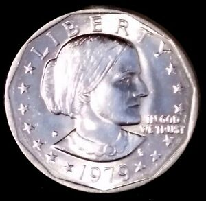 1979 D $1 SUSAN B ANTHONY DOLLAR BU LCT 50 CENTS SHIPPING