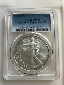 Click now to see the BUY IT NOW Price! 2008 W AMERICAN SILVER EAGLE PCGS SP70 BURNISHED REV
