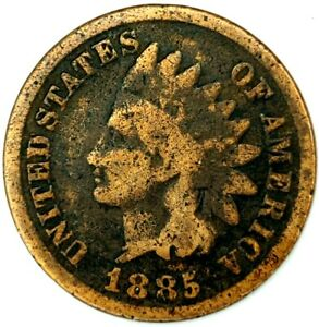 1885 P 1C INDIAN HEAD CENT 20STC0405 CENTS SHIPPING