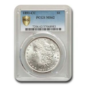 1891 CC MORGAN DOLLAR MS 62 PCGS
