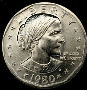 1980 P $1 SUSAN B ANTHONY DOLLAR BU 20LUO0616 50 CENTS SHIPPING