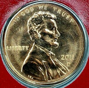 2011 D 1C LINCOLN SHIELD CENT BU M/S 19LL0518 50 CENTS SHIPPING