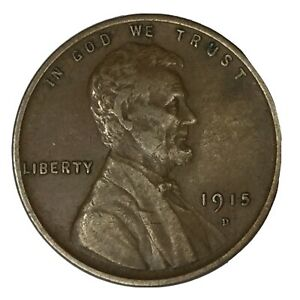 1915 D 1C LINCOLN CENT XF