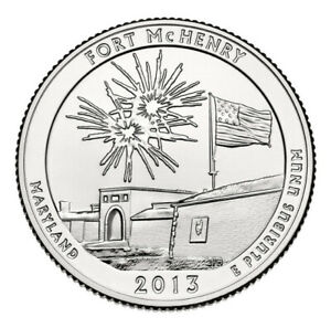 2013 D FORT MCHENRY MARYLAND   ATB QUARTER   UNCIRCULATED FROM US MINT ROLL