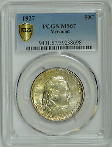 Click now to see the BUY IT NOW Price! 1927 VERMONT CLASSIC COMMEMORATIVE MS 67 PCGS