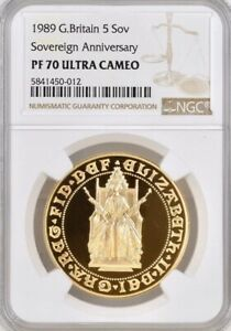 Click now to see the BUY IT NOW Price! 1989 GOLD PROOF FIVE POUNDS  5 5 SOVEREIGN  NGC PF70 UCAM TUDOR ROSE 500TH
