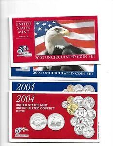 EMPTY 2000 2001 2002. 2003 2004 MINT SET ENVELOPES  10