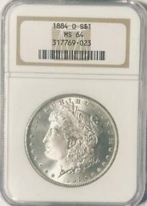1884 O MORGAN SILVER DOLLAR   NGC MS 64   CERTIFIED MINT STATE 64