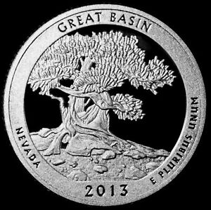 2013 S 25C ATB QUARTER GREAT BASIN GDC PROOF CN CLAD 50 CENTS SHIPPING