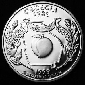 1999 S 25C STATE QUARTER GEORGIA GDC PROOF CN CLAD 50 CENTS SHIPPING
