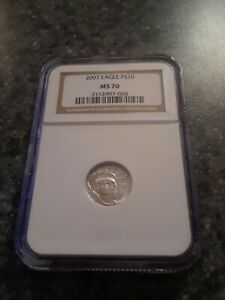 2007 $10 PLATINUM EAGLE MS70 1/10 OZ  NGC LOW PRICE