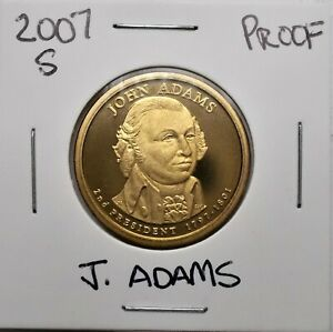 2007 S PROOF PRESIDENTIAL DOLLAR COIN J. ADAMS