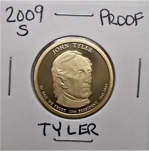 2009 S PROOF PRESIDENTIAL DOLLAR COIN J. TYLER