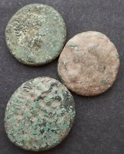 ANCIENT BRONZE COINS. LOT OF 3 COINS