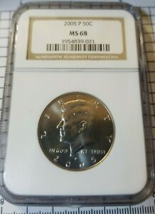 Click now to see the BUY IT NOW Price! 2005 P KENNEDY 50C HALF DOLLAR GRADED BY NGC MS68 MINT STATE 68 UNCIRCULATED