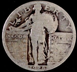 1928 P 25C STANDING LIBERTY QUARTER 90  SILVER SUU 50 CENTS SHIPPING