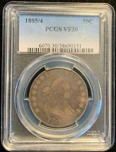 Click now to see the BUY IT NOW Price! 1805/4 DRAPED BUST HALF DOLLAR 50C PCGS VF30 EXTREMLEY  VARIETY O 103A R.5