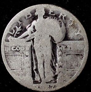 1927 P 25C STANDING LIBERTY QUARTER 90  SILVER  50 CENTS SHIPPING