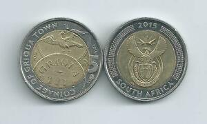 SOUTH AFRICA   5 RAND 2015 COINAGE OF GRIQUA TOWN 200 YEARS XF