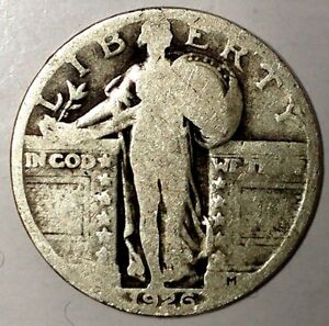 1926 P 25C STANDING LIBERTY QUARTER 90  SILVER 18UWH1501 50 CENTS SHIPPING