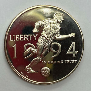1994 P WORLD CUP SOCCER TOURNAMENT DCAM PROOF COMMEMORATIVE HALF DOLLAR  1B34