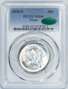 1936 S 50C TEXAS PCGS MS66 CAC