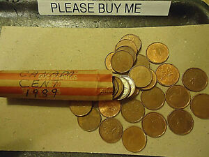 1989 CANADA CENT ROLL    50 COINS      >>C/S & H AVAILABLE<<