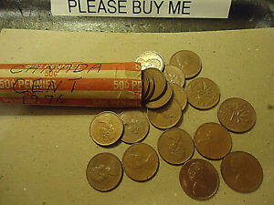 1976 CANADA CENT ROLL    50 COINS      >>C/S & H AVAILABLE<<