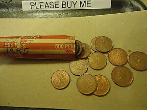 1995 CANADA CENT ROLL    50 COINS      >>C/S & H AVAILABLE<<