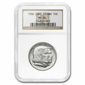 1936 LONG ISLAND TERCENTENARY HALF DOLLAR MS 66 NGC   SKU50361