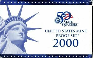 2000 S US PROOF MINT SET 10 COINS CLAD 20SCL0803 $2 SHIPPING